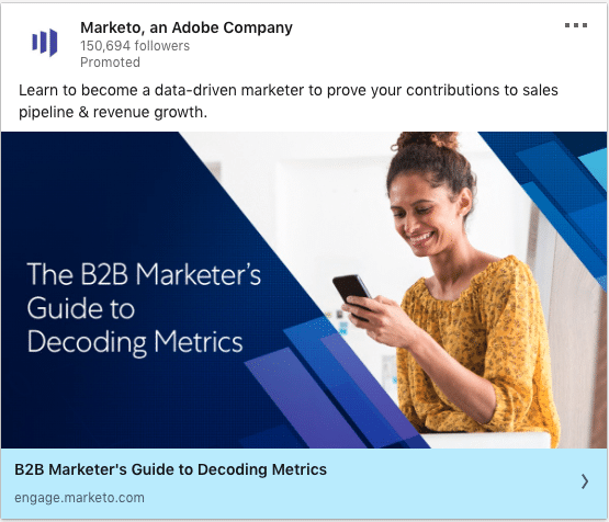 Marketo ads on B2B Marketer's Guide