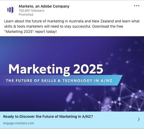 Marketo ads on Marketing 2025