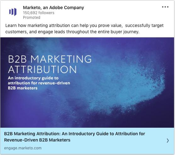 Marketo ads on B2B Marketing Attribution