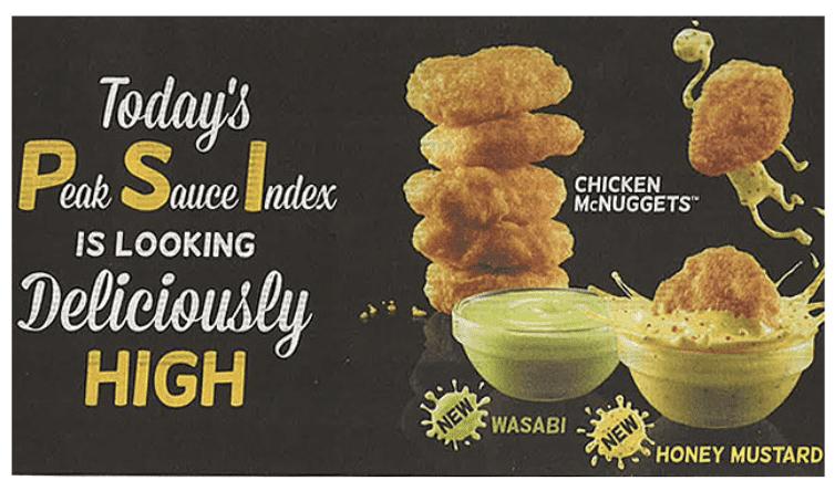 McDonalds PSI Peak Sauce Index campaign