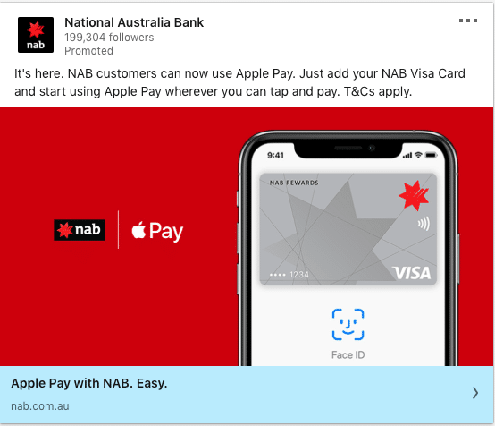 National Australia Bank ads on Apple Pay