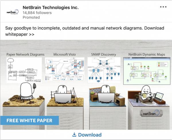 NetBrain ads on Free White Paper