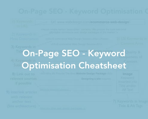 On-Page SEO - Keyword Optimisation Cheatsheet