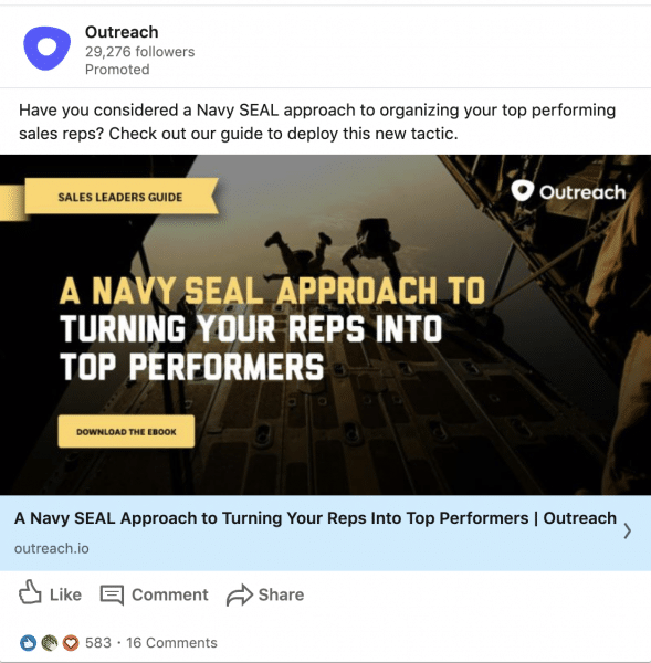Outreach ads on A Navy SEAL Approach