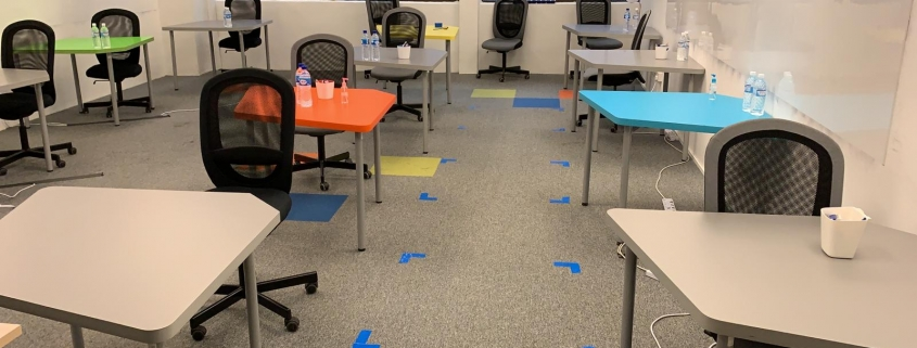 Classroom spacing 1m