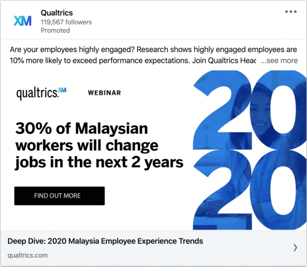 Qualtrics Malaysia ads on 2020 Malaysia Employee Experience Trends