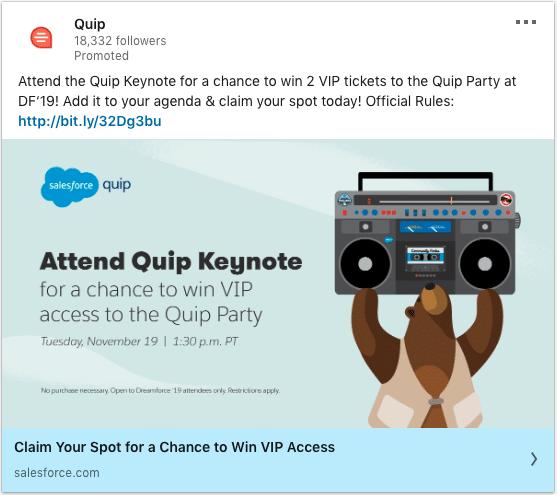 Quip ads on Quip Keynote