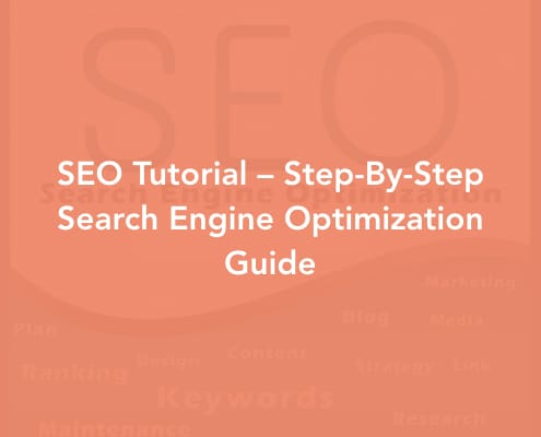 SEO Tutorial – Step-By-Step Search Engine Optimization Guide Cover