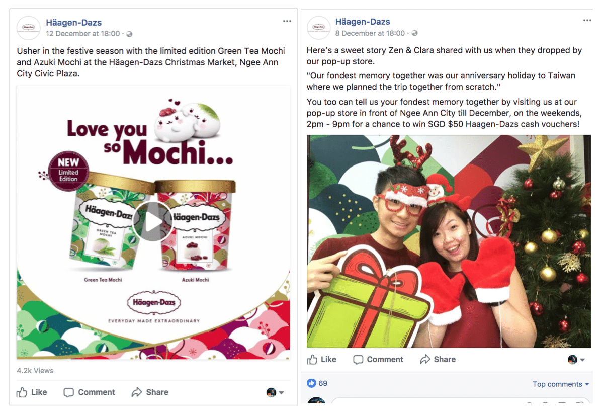 Social Media Marketing by Häagen-Dazs Singapore