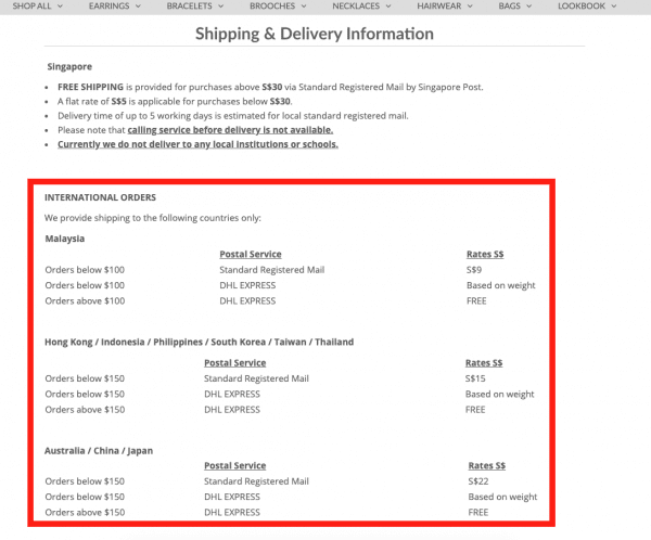 Shipping-information-chomel