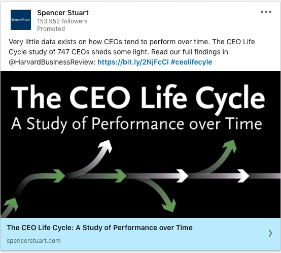 Spencer Stuart ads on The CEO Life Cycle