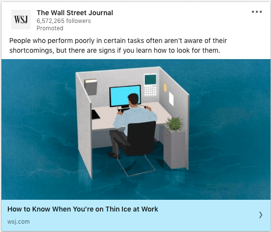 The Wall Street Journal ads on office work and shortcomings