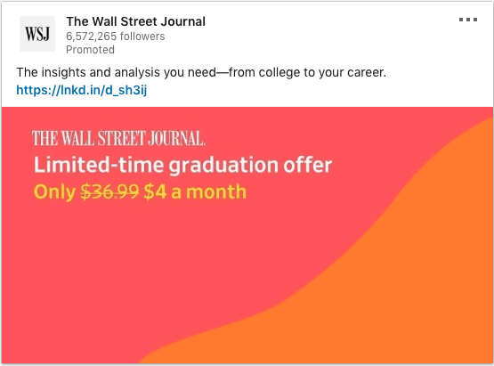 The Wall Street Journal ads on insights and analysis