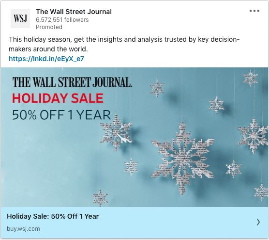 The Wall Street Journal ads on insights and analysis trusted by key decision-makers