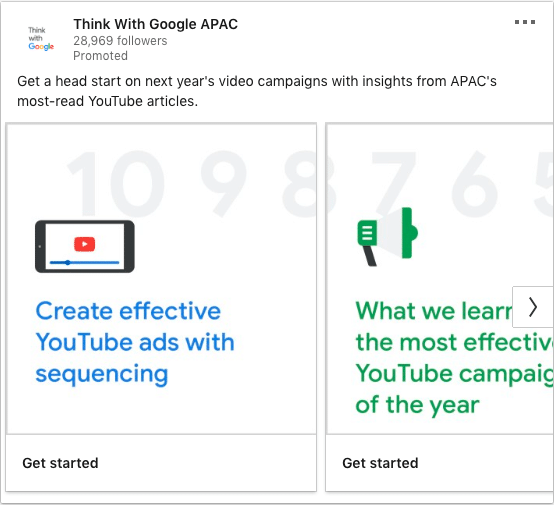Think with Google ads on Video Campaigns