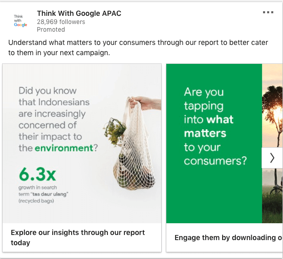 Think with Google ads on Consumer Insights Report