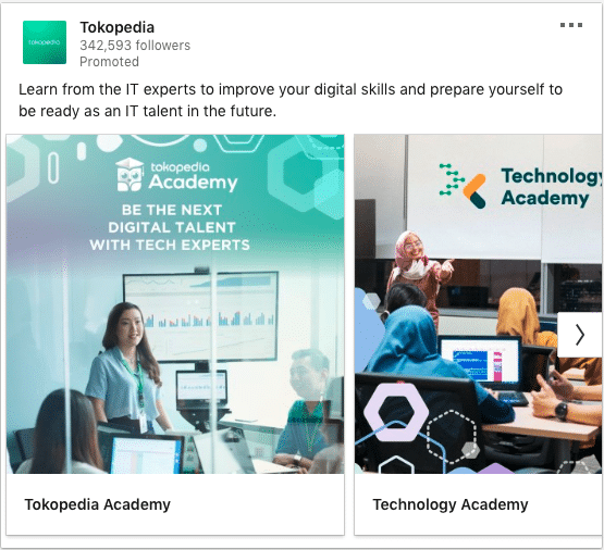 Tokopedia ads on digital skills improvement