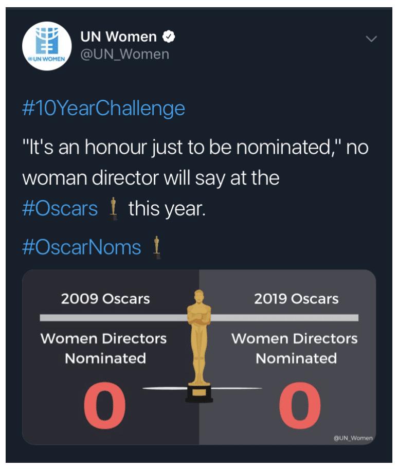 10yearchallenge women directors nominated