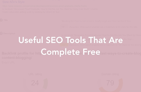 Useful SEO Tools That Are Complete Free Cover
