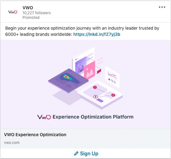 VWO ads on Experience Optimization