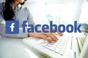 Woman on Facebook Marketing and Advertising