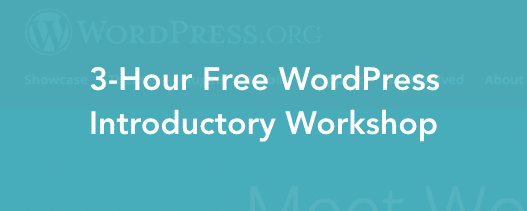 WordPress Free Workshop 3-hour cover header image