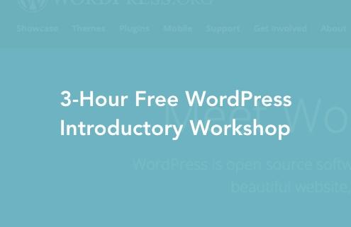WordPress Free Workshop Cover Image