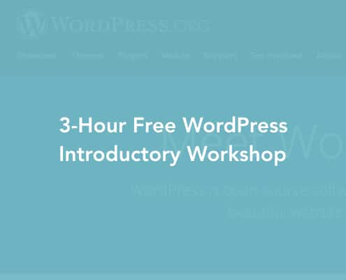 WordPress Free Workshop Cover Image
