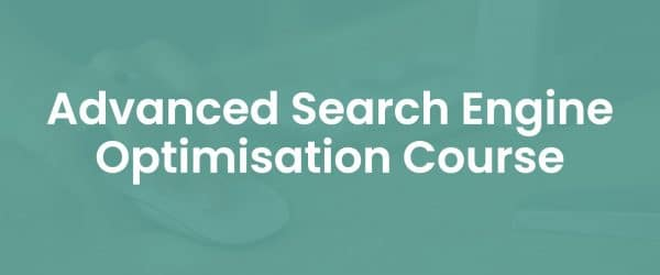 Advanced search engine optimisation course cover