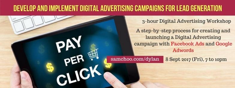 Sam Choo Digital Advertising Workshop Banner