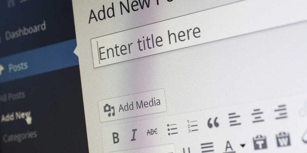 write new blog post on wordpress