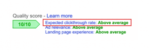 example of clickthrough rate
