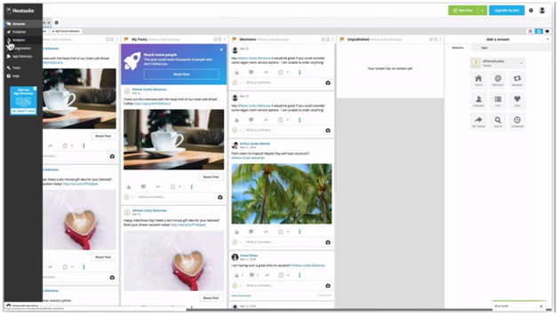 hootsuite dashboard