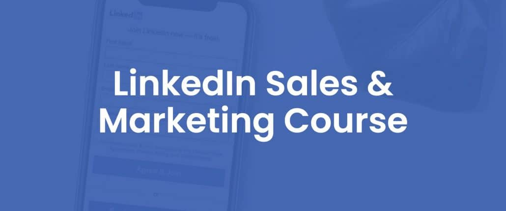 Linkedin sales and marketing course cover