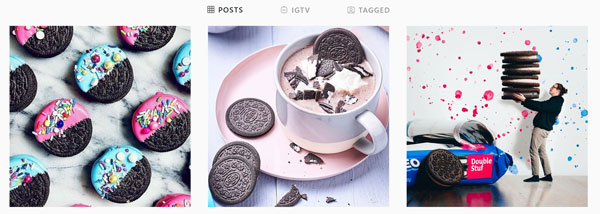 oreo cookies in instagram