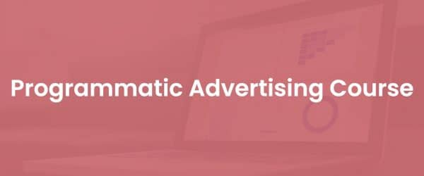 Programmatic advertising course cover