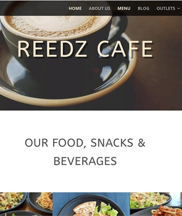 reedz-cafe-wordpress-website