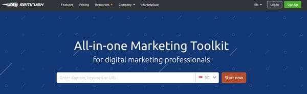 semrush - all-in-one marketing toolkit