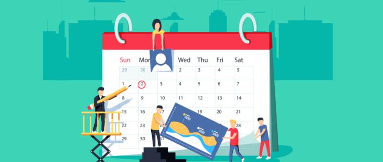 social media content calendar image