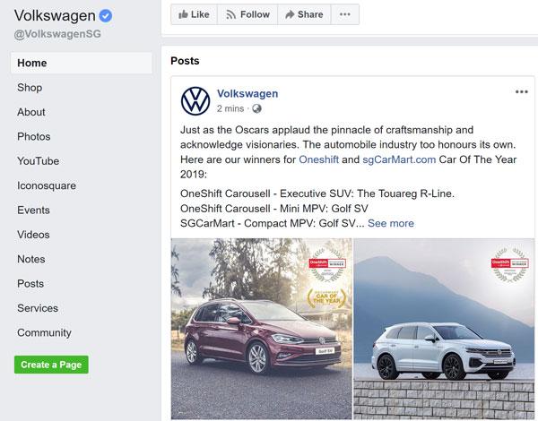 Volkswagen Facebook