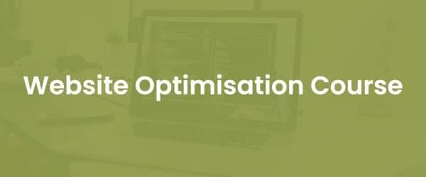 Website conversion rate optimisation course cover